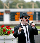 ARLINGTON HEIGHTS, IL - AUGUST 13: The Blues Brothers entertain the crowd before the American St. Leger Stakes at Arlington International Racecourse on August 13, 2016 in Arlington Heights, Illinois. (Photo by Jon Durr/Eclipse Sportswire/Getty Images)