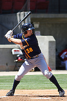 Greg Sexton #38 of the Montgomery Biscuits hitting during a game against the Carolina Mudcats on April 18, 2010 in Zebulon, NC.