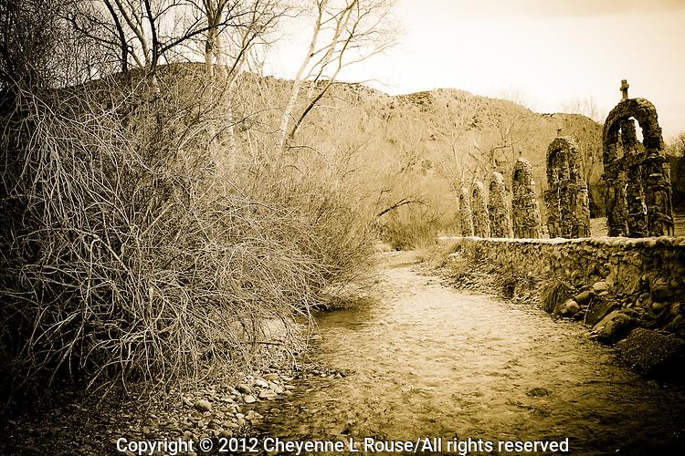 Creek Crosses - Chimayo, New Mexico