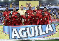 BOGOTA - COLOMBIA - 30-07-2016: Los jugadores de Rionegro Aguilas, posan para una foto, durante partido de la fecha 6 entre Millonarios y Rionegro Aguilas, de la Liga Aguila II-2016, jugado en el estadio Nemesio Camacho El Campin de la ciudad de Bogota.  / The players Rionegro Aguilas, pose for a photo, during a match between Millonarios and Rionegro Aguilas, for the date 6 of the Liga Aguila II-2016 at the Nemesio Camacho El Campin Stadium in Bogota city, Photo: VizzorImage / Luis Ramirez / Staff.