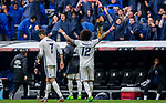 Marcelo Vieira Da Silva of Real Madrid celebrates scoring during their La Liga match between Real Madrid and Valencia CF at the Santiago Bernabeu Stadium on 29 April 2017 in Madrid, Spain. Photo by Diego Gonzalez Souto / Power Sport Images