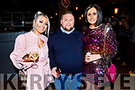 Staff of Garveys Supervalu enjoying their Christmas party in the Ashe Hotel on Saturday<br /> L to r: Avril Moriarty, Joe Riley and Sandra Lynch.