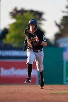 West Virginia Black Bears Zack Kone (26) running the bases during a NY-Penn League game against the Batavia Muckdogs on June 25, 2019 at Dwyer Stadium in Batavia, New York.  Batavia defeated West Virginia 7-3.  (Mike Janes/Four Seam Images)
