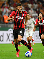 Calcio, Serie A: AC Milan - Cagliari calcio, Giuseppe Meazza (San Siro) stadium, Milan on August 29, 2021.  <br /> Milan's Olivier Giroud in action during the Italian Serie A football match between Milan and Cagliari at Giuseppe Meazza stadium, on August 29, 2021.  <br /> UPDATE IMAGES PRESS/Isabella Bonotto