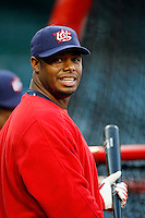 Ken Griffey,Jr. of the USA during the World Baseball Championships at Angel Stadium in Anaheim,California on March 13, 2006. Photo by Larry Goren/Four Seam Images