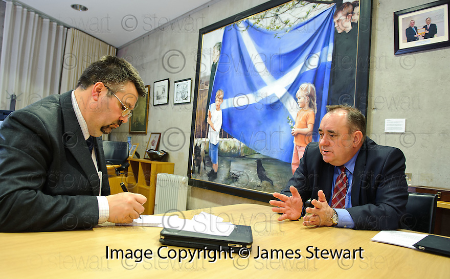 Alex Salmond. My First Year.......Scotlans' First Minister Alex Salmond is interviewed by Sun Political Reporter Andy Nicoll .......