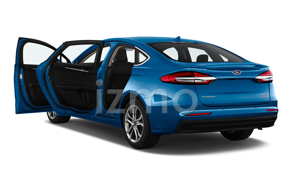 Car images close up view of a 2019 Ford Fusion-Hybrid Titanium  4 Door Sedan doors