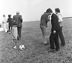 Beatles 1967 Ringo Starr during filming of  Magical Mystery Tour on Devon moors