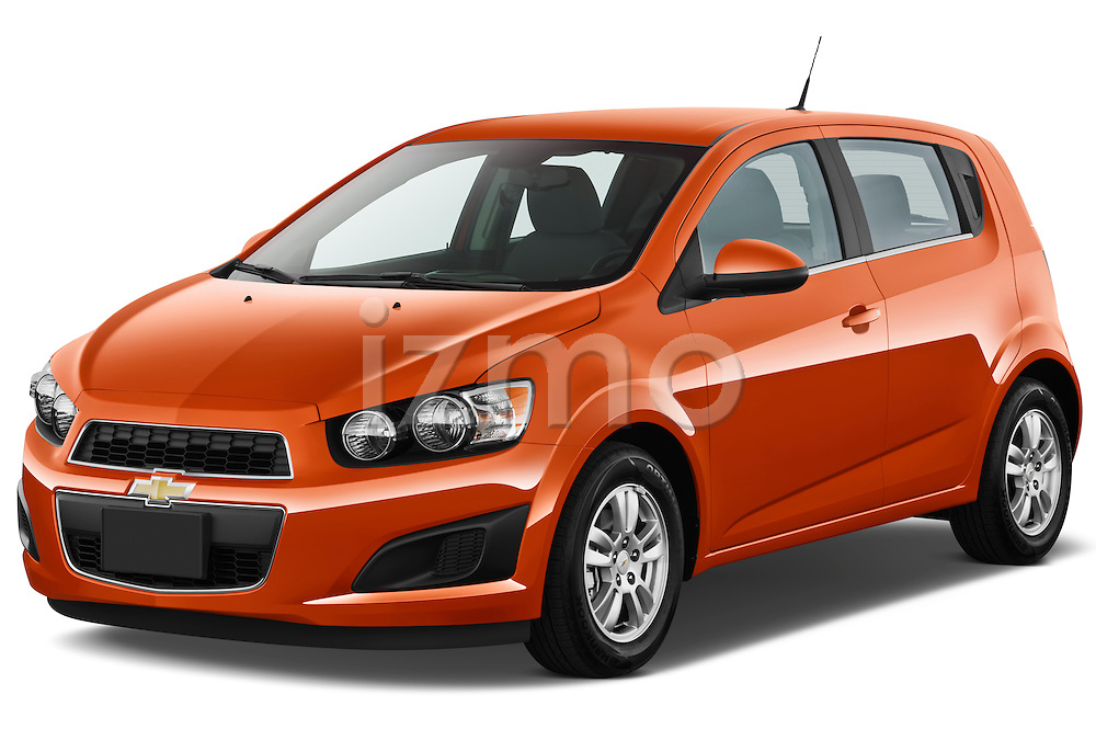 Front three quarter view of 2012 Chevrolet Sonic LT 5 Door