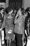 WILLY RIZZO E BETTINA GRAZIANI<br /> FESTA PER I 30 ANNI DI HELMUT BERGER JACKIE O' ROMA 1974