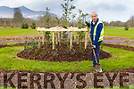 Martin Crowley General Operator at Killarney House and Gardens working on the new feature in the garden on Monday