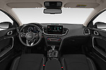 Stock photo of straight dashboard view of 2020 KIA Ceed-SW-PHEV Business-Line 5 Door Wagon Dashboard