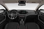 Stock photo of straight dashboard view of 2020 KIA Ceed-SW-PHEV Business-Line 5 Door Wagon Dashboard