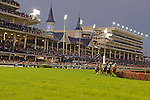 Horses enter the first turn during The Grey Goose Breeders' Cup Juvenile Fillies (Grade 1) at Churchill Downs in Louisville, KY  on 11/04/11. (Ryan Lasek / Eclipse Sportwire)