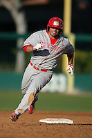 March 7 2010: Adam Courcha of University of New Mexico during game against USC at Dedeaux Field in Los Angeles,CA.  Photo by Larry Goren/Four Seam Images