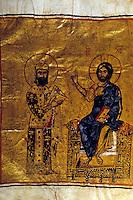 Hagia Sophia:  Emperor Alexius I--Comnenus, 1081. Portrayed with seated figure of Christ.  Lord Kinross, HAGIA SOPHIA.