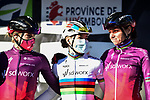 World Champion Anna Van Der Breggen (NED) and Team SD Worx at the team presentations before the start of Liege-Bastogne-Liege Femmes 2021, running 141km from Bastogne to Liege, Belgium. 25th April 2021.  <br /> Picture: A.S.O./Gautier Demouveaux | Cyclefile<br /> <br /> All photos usage must carry mandatory copyright credit (© Cyclefile | A.S.O./Gautier Demouveaux)