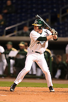 USF Bulls third baseman Zac Gilcrease (16) at bat during a game against the Louisville Cardinals on February 14, 2015 at Bright House Field in Clearwater, Florida.  Louisville defeated USF 7-3.  (Mike Janes/Four Seam Images)