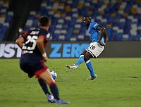 26th September 2021; Maradona Stadium, Naples, Italy; Serie A football, Napoli versus Cagliari :  Kalidou Koulibaly of Napoli
