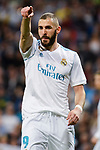 Real Madrid Karim Benzema during La Liga match between Real Madrid and Athletic Club at Santiago Bernabeu Stadium in Madrid. April 19, 2017. (ALTERPHOTOS/Borja B.Hojas)
