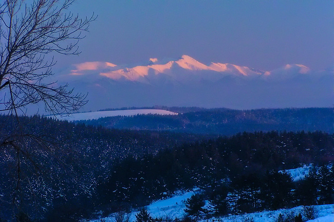 Mt. Musala Winter Sunset