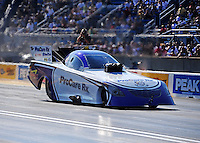 Jul, 8, 2011; Joliet, IL, USA: NHRA funny car driver Melanie Troxel during qualifying for the Route 66 Nationals at Route 66 Raceway. Mandatory Credit: Mark J. Rebilas-