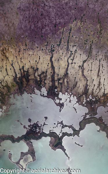 aerial photo map of the Everglades National Park at Atlantic shoreline, Florida