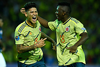 ARMENIA – COLOMBIA, 19-01-2020:Jorge Carrascal de Colombia celebra después de anotar el segundo gol de su equipo durante partido entre Colombia y Ecuador por la fecha 2, grupo A, del CONMEBOL Preolímpico Colombia 2020 jugado en el estadio Centenario de Armenia, Colombia. /  Jorge Carrascal of Colombia celebrates after scoring the second goal of his team during the match between Colombia and Ecuador for the date 2, group A, for the CONMEBOL Pre-Olympic Tournament Colombia 2020 played at Centenario stadium in Armenia, Colombia Colombia y Ecuador en partido de la fecha 2, grupo A, del CONMEBOL Preolímpico Colombia 2020 jugado en el estadio Centenario de Armenia, Colombia. / Colombia and Ecuador in match of the date 2, group A, for the CONMEBOL Pre-Olympic Tournament Colombia 2020 played at Centenario stadium in Armenia, Colombia. Photos: VizzorImage / Julian Medina / Cont