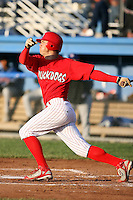 June 18th 2008:  Beau Riportella of the Batavia Muckdogs, Class-A affiliate of the St. Louis Cardinals, during a game at Dwyer Stadium in Batavia, NY.  Photo by:  Mike Janes/Four Seam Images