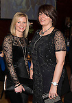 St Johnstone FC Scottish Cup Celebration Dinner at Perth Concert Hall...01.02.15<br /> Lorna Davidson (left) wife of Callum and Anne Wright wife of Tommy<br /> Picture by Graeme Hart.<br /> Copyright Perthshire Picture Agency<br /> Tel: 01738 623350  Mobile: 07990 594431