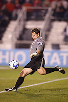 Ohio State Buckeyes goalkeeper Casey Latchem (1) during an NCAA College Cup semi-final match at SAS Stadium in Cary, NC on December 14, 2007. Ohio State defeated Massachusetts 1-0.