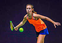Hilversum, Netherlands, December 3, 2017, Winter Youth Circuit Masters, 12,14,and 16 years, Anouk Koevermans (NED)<br /> Photo: Tennisimages/Henk Koster