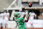 North Texas Mean Green wide receiver Deion Hair-Griffin (82) in action during the Zaxby's Heart of Dallas Bowl game between the Army Black Knights and the North Texas Mean Green at the Cotton Bowl Stadium in Dallas, Texas.