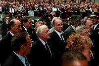 Jimmy Carter aux funerailles de Pierre Trudeau le 10 Octobre 2000, a la Basilique Notre-Dame<br /> <br /> <br /> PHOTO :  Agence Quebec Presse
