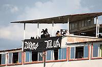 TULUÁ- COLOMBIA, 21-06-2021:Cortuluá y Deportes Quindio, durante partido de la Final ida por el Torneo BetPlay DIMAYOR 2021 jugado en el estadio Doce de Octubre de Tuluá./ Cortulua and Deportes Quindio, during the firts final match of the BetPlay DIMAYOR 2021 Tournament played at the Doce de Octubre stadium in Tuluá. Photo: VizzorImage. / Pablo Bohorquez / Contribuidor