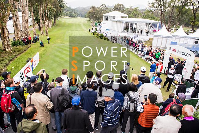 Spectators watch as Sergio Garcia of Spain tees off during the day three of UBS Hong Kong Open 2017 at the Hong Kong Golf Club on 25 November 2017, in Hong Kong, Hong Kong. Photo by Marcio Rodrigo Machado / Power Sport Images