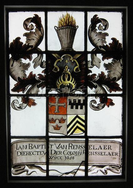 Stained-glass Window by Evert Duyckinck. New York City, ca. 1656