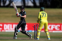 4th April 2021; Bay Oval, Taurange, New Zealand;  White Ferns Maddy Green is bowled out watched by Australia's wicket keeper Alyssa Healy during the 1st women's ODI White Ferns versus Australia Rose Bowl cricket match at Bay Oval in Tauranga.