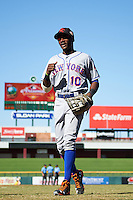 Scottsdale Scorpions Champ Stuart (10), of the New York Mets organization, during a game against the Mesa Solar Sox on October 21, 2016 at Sloan Park in Mesa, Arizona.  Mesa defeated Scottsdale 4-3.  (Mike Janes/Four Seam Images)