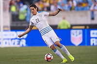 Action photo during the match Uruguay vs Venezuela at Lincoln Financial Field Stadium Copa America Centenario 2016. ---Foto  de accion durante el partido Uruguay vs Venezuela, En el Estadio Lincoln Financial Field Partido Correspondiante al Grupo - C -  de la Copa America Centenario USA 2016, en la foto: Edinson Cavani<br /> --- 09/06/2016/MEXSPORT/Osvaldo Aguilar.