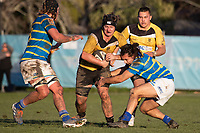 Action from the Canterbury Metro premier rugby union match between Lincoln University and New Brighton at Lincoln University in Lincoln, New Zealand on Saturday, 11 July 2020. Photo: Joe Johnson / lintottphoto.co.nz