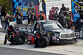 #18: Noah Gragson, Kyle Busch Motorsports, Toyota Tundra Safelite, makes a pit stop