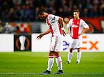 Nederland, Amsterdam, 5 november 2015<br /> Europa League<br /> Seizoen 2015-2016<br /> Ajax-Fenerbahce (0-0)<br /> Anwar El Ghazi van Ajax loopt geblesseerd van de grasmat