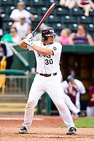 Luke Voit (30) of the Missouri State Bears at bat during a game against the Evansville Purple Aces at Hammons Field on May 12, 2012 in Springfield, Missouri. (David Welker/Four Seam Images)