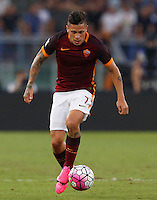 Calcio, Serie A: Roma vs Juventus. Roma, stadio Olimpico, 30 agosto 2015.<br /> Roma's Juan Iturbe in action during the Italian Serie A football match between Roma and Juventus at Rome's Olympic stadium, 30 August 2015.<br /> UPDATE IMAGES PRESS/Riccardo De Luca