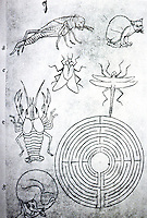 Visual Arts:  Villard De Honnecourt, Plate 34. The Sketchbook of Villard De Honnecourt.