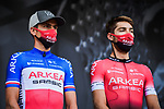 French Champion Warren Barguil (FRA) Team Arkea-Samsic at the Team Presentation before the start of Stage 1 of Criterium du Dauphine 2020, running 218.5km from Clermont-Ferrand to Saint-Christo-en-Jarez, France. 12th August 2020.<br /> Picture: ASO/Alex Broadway | Cyclefile<br /> All photos usage must carry mandatory copyright credit (© Cyclefile | ASO/Alex Broadway)
