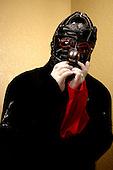 "(#6) Shawn ""Clown"" Crahan – custom percussion, backing vocals, .Slipknot Studio Portrait Session In Desmoines Iowa.Photo Credit: Eddie Malluk/Atlas Icons.com"