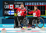 Pyeongchang, Korea, 15/3/2018-Ina Forrest-Mark Ideson, compete in the  wheelchair curling during the 2018 Paralympic Games in PyeongChang.  Photo Scott Grant/Canadian Paralympic Committee.