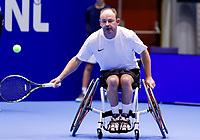 Rotterdam, Netherlands, December 15, 2017, Topsportcentrum, Ned. Loterij NK Tennis, Wheelchair Patrick Elzinga (NED)<br /> Photo: Tennisimages/Henk Koster